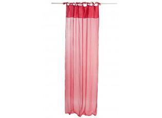 Červený bavlněný voál / záclona na zavazování - 140*290cm