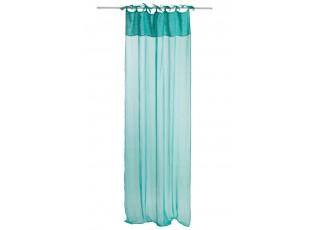 Azurový bavlněný voál / záclona na zavazování - 140*290cm