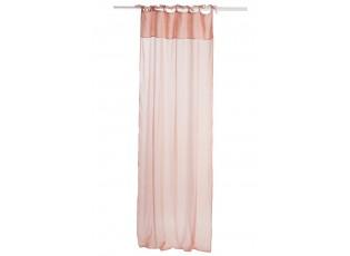 Lososový bavlněný voál / záclona na zavazování - 140*290cm
