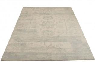Béžovo-modrý vlněný koberec Jacquard - 200*300cm