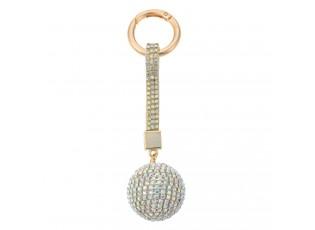 Duhová klíčenka koule s kamínky Venni - Ø 3,5*14,5cm