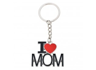 Klíčenka s černo stříbrným přívěskem I Love Mom