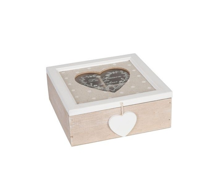 Krabička na čaj - LA MAISON -18*18*7 cm