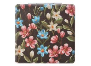 Ruční zrcátko  květy - 6*8.5 cm
