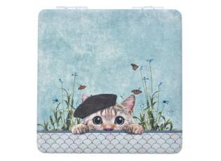 Příruční zrcátko s kočičkou Catty - 7*7 cm