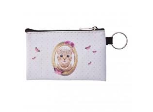Peněženka/ klíčenka s kočičkou Miauw - 12*8 cm