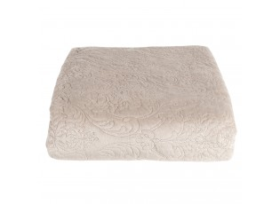 Béžový přehoz na postel s 2 povlaky na polštář Aurore - 180*260/ (2) 40*40 cm