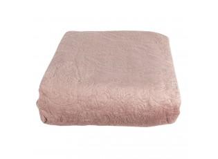 Růžový přehoz na postel s 2 povlaky na polštář Aurore - 180*260/ (2) 40*40 cm