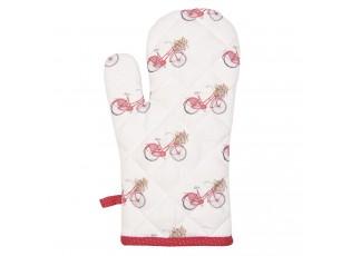 Kuchyňská bavlněná rukavice Red Bicycle - 16*30 cm