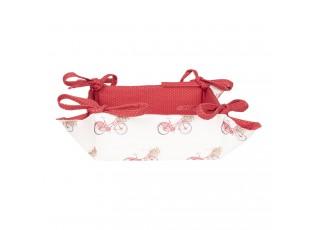 Oboustranný bavlněný košíček na pečivo Red Bicycle - 35*35*8 cm