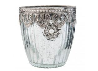 Zdobný svícen na čajovou svíčku - ∅ 10*10 cm