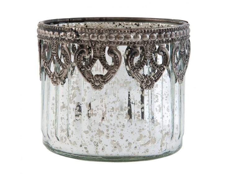 Zdobný svícen na čajovou svíčku - ∅  9*7 cm