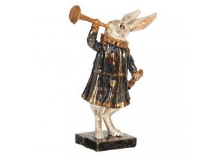 Dekorace králík s trubkou - 8*4*12 cm