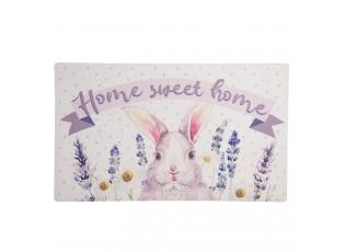 Podlahová rohožka s králíkem Home sweet - 74*44 cm