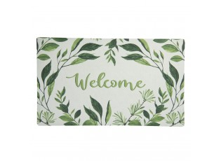 Podlahová rohožka s lístečky Welcome - 74*44*1 cm
