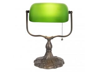 Zelená bankovní lampa tiffany Velves - 27*20*36 cm 1x E27 / max 60w