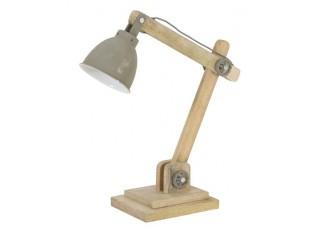 Šedá dřevěná stolní lampička Elmer cement - 50*15*45 cm