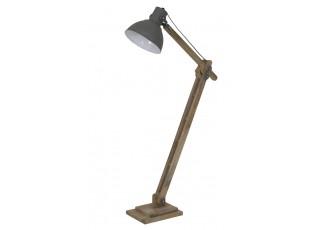 Šedá dřevěná stojací lampa Elmer cement - 84*26*125 cm