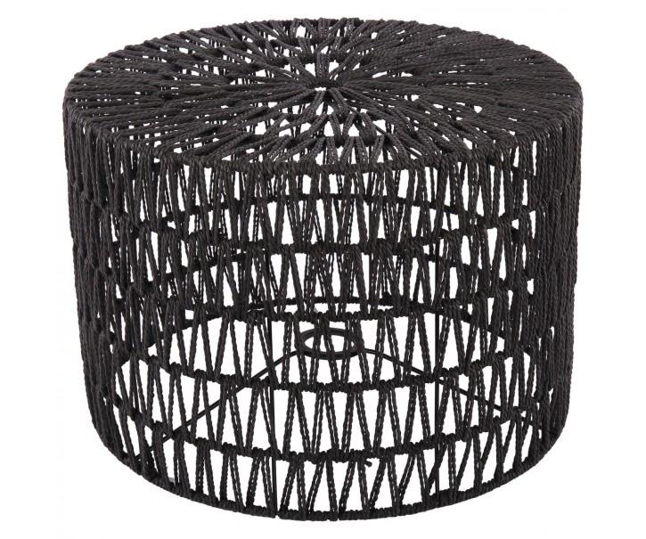 Černé provázkové stínidlo na stolní lampu Luca cylinder - Ø 40*28cm / E27