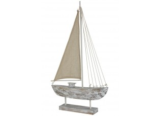 Dřevěná dekorace lodi Fock L - 42*8*71cm