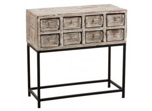 Dřevěná komoda z recyklovaného dřeva se šuplíky Ibiza - 73*34*75cm