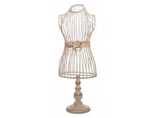 Krémová kovová dekorační figurína s patinou Nostalgic - 24*17*65cm