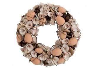 Velikonoční věnec s vajíčky - Ø 32*8 cm