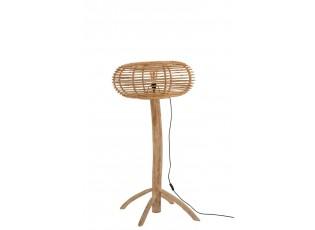 Přírodní ratanová stojací lampa Teak - 77*70*134cm