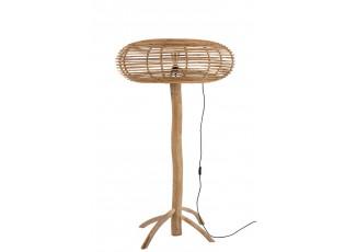 Přírodní ratanová stojací lampa Teak - Ø 89*155cm