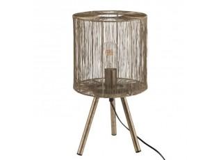 Kovová bronzová stolní lampa Antiek - Ø 25*45cm