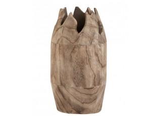 Dřevěná dekorační váza Ermi - ∅ 18*35cm
