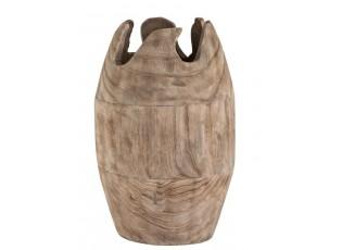 Dřevěná dekorační váza Ermi - ∅ 26*42cm