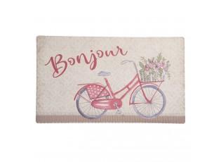 Podlahová rohožka s kolem Bonjour - 74*44*1 cm