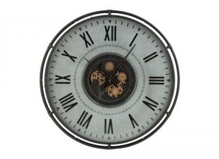 Kovové nástěnné hodiny s pohyblivým strojkem Romani - ∅109*9,5cm