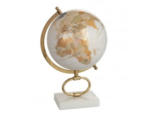 Glóbus na kovové zlaté noze Marble medium - 22,5*20*35,5 cm