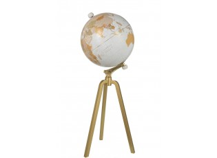 Glóbus na kovové zlaté trojnožce Marble - ∅40*103cm