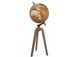 Dekorace glóbus na dřevěné trojnožce Rustic - Ø40*101cm