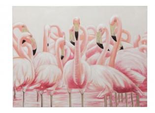 Obraz s plameňáky Flamingos - 120*3,5*90cm