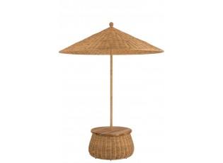 Ratanový slunečník se stolkem a úložným prostorem - ∅ 200*293 cm