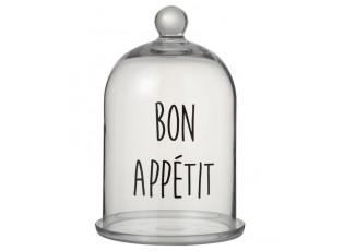 Skleněný podnos s poklopem Bon Apetit - Ø19 * 31cm