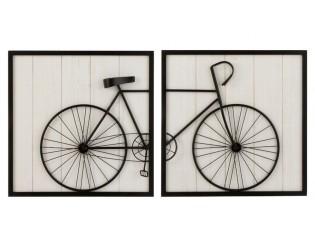 2 dřevěné nástěnné cedule Bicycle - 120*8*60 cm