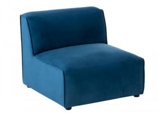 Modrá 1-místná sametová pohovka Maurice - 80*90*70cm
