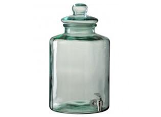 Zelená kulatá nádoba na nápoje s kohoutkem - Ø26*45cm - 14l