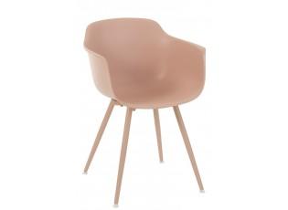 Růžová plastová židle Swing - 54*57*80 cm