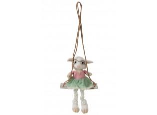 Dekorace ovečka na houpačce Sheep - 28*20*29cm
