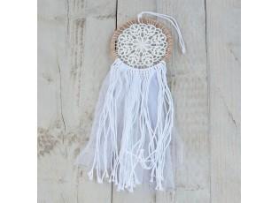 Bílý lapač snů Noah - Ø13*37 cm
