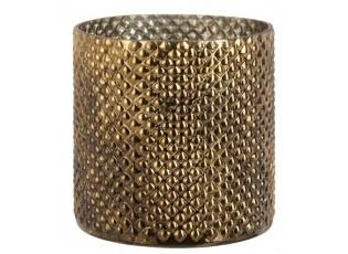 Zlatý skleněný svícen Gold Glint - Ø 19*20 cm