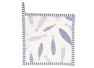 Bavlněná podložka pod hrnce Nautical Fish - 20*20 cm