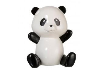 Bílo-černá keramická kasička Panda - 21*17*26 cm