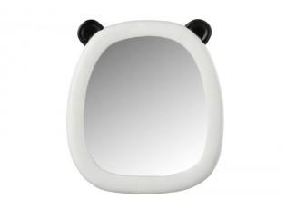 Nástěnné bílo-černé zrcadlo Panda - 25*2*28cm